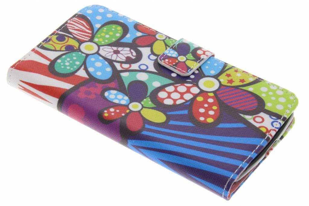 Bloemen design TPU booktype hoes voor de Acer Liquid Zest (4G)