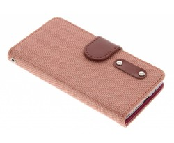 Linnen look TPU booktype hoes Samsung Galaxy S2 (Plus)