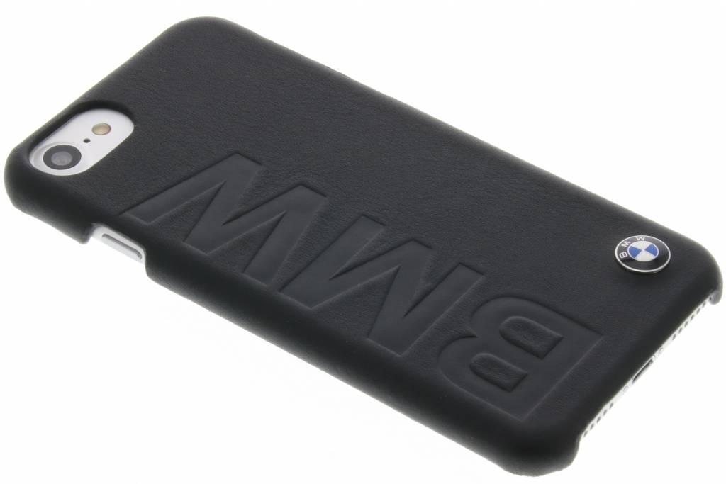BMW Real Leather Hard Case voor de iPhone 8 / 7 - Zwart