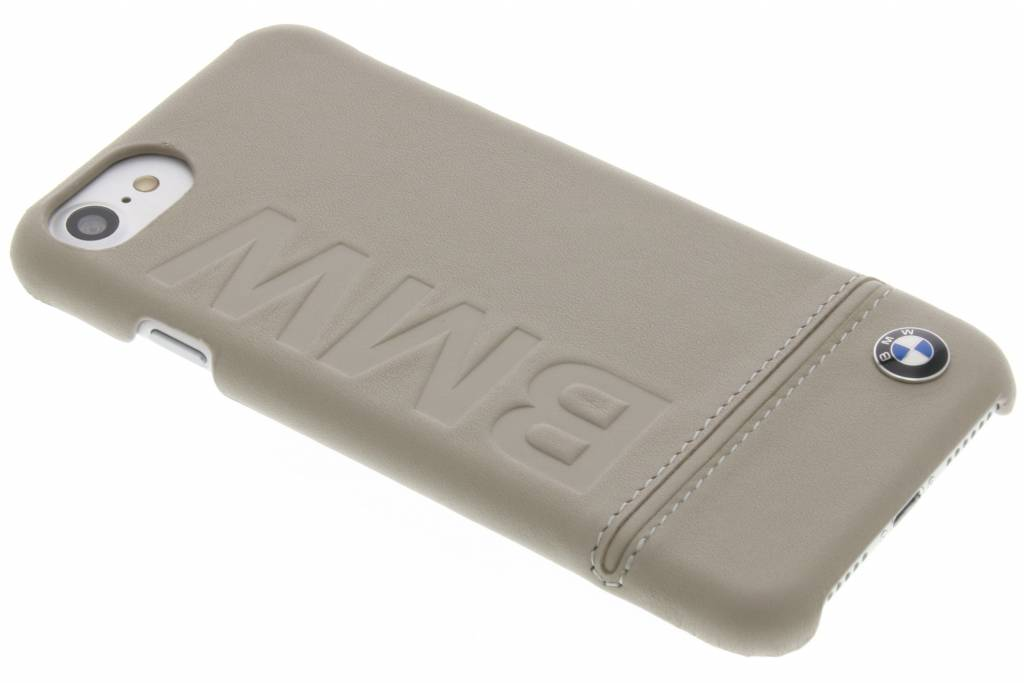 BMW Real Leather Hard Case voor de iPhone 8 / 7 - Taupe