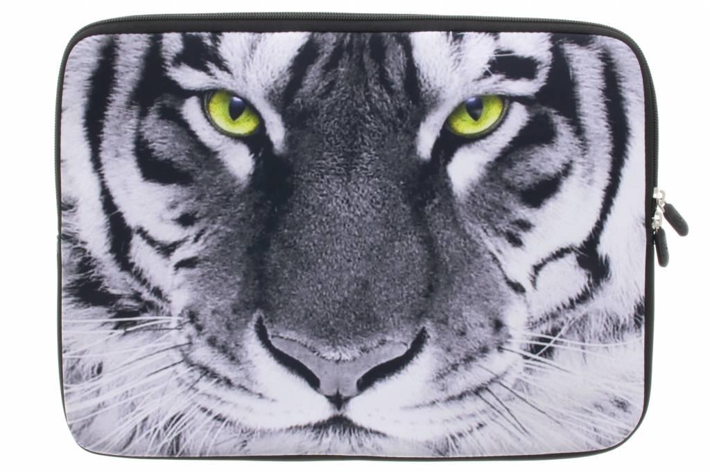 Universele witte tijger design sleeve 15 inch