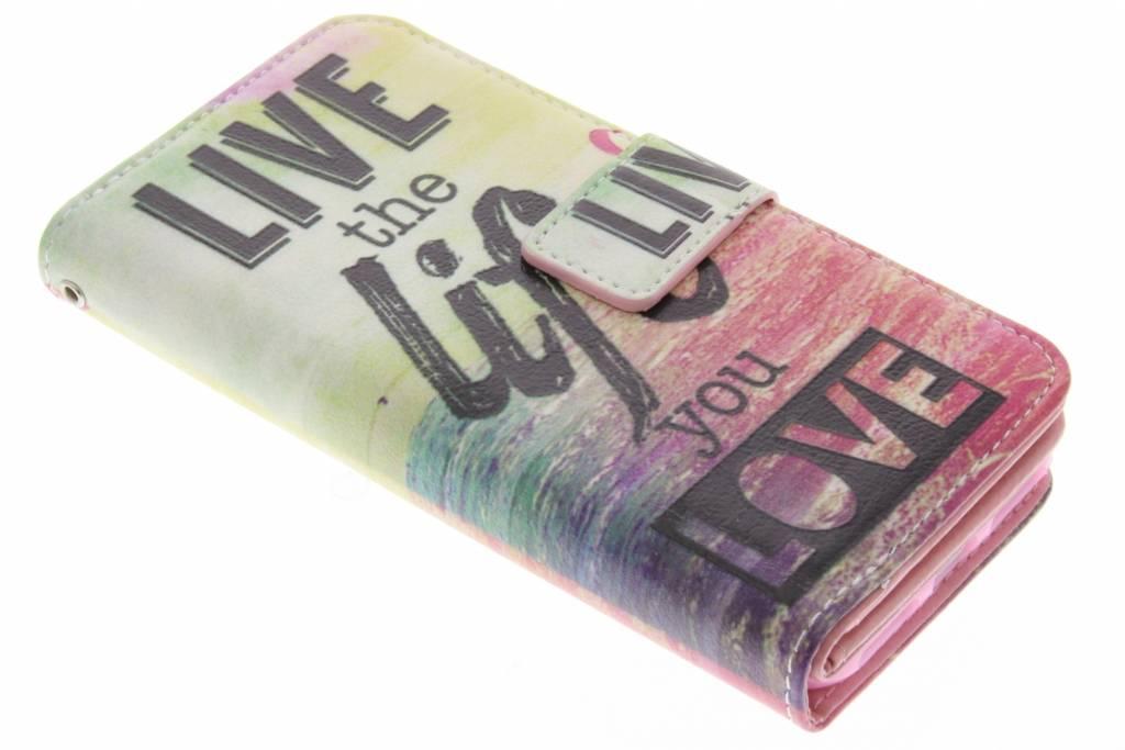 Live the life design TPU portemonnee voor de iPhone 8 / 7
