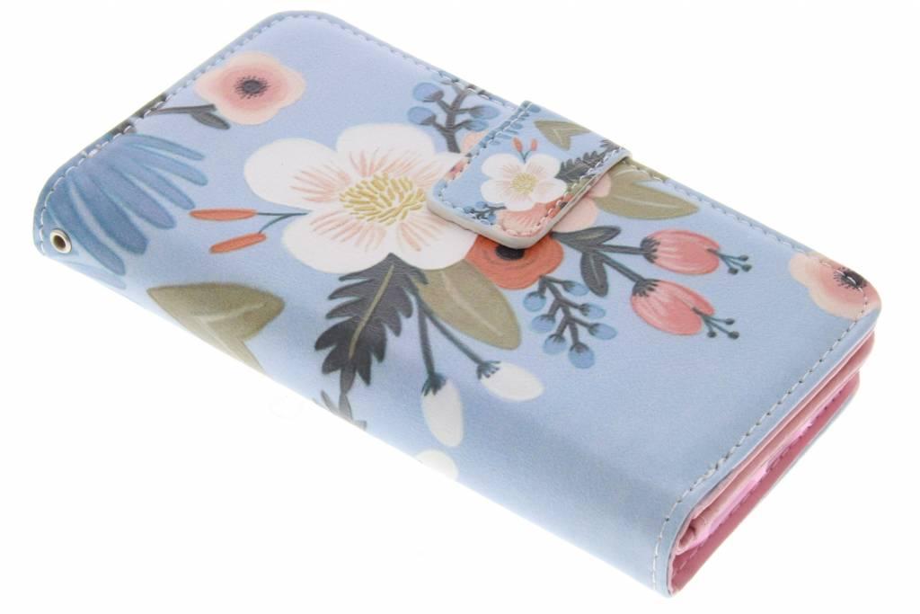 Bloemen design TPU portemonnee voor de iPhone 7
