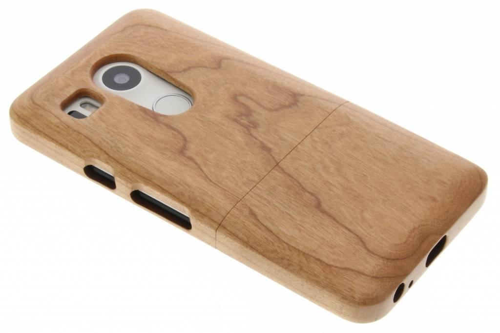 Bruin echt houten hardcase hoesje voor de LG Nexus 5X