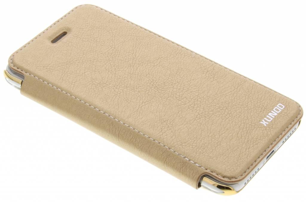 Gouden crystal slim book case voor de iPhone 8 / 7