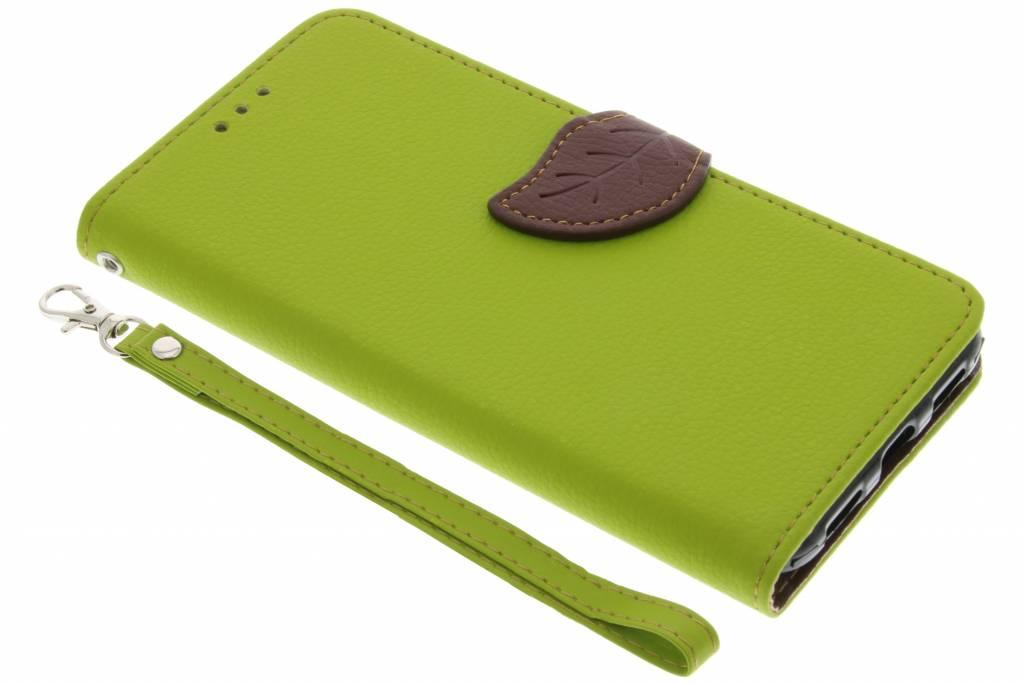 Groene blad design TPU booktype hoes voor de Google Pixel XL