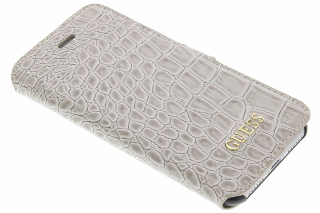 Guess Croco Book Case Shiny Beige iPhone 7
