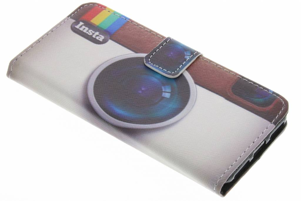Insta camera design TPU booktype hoes voor de iPhone 7