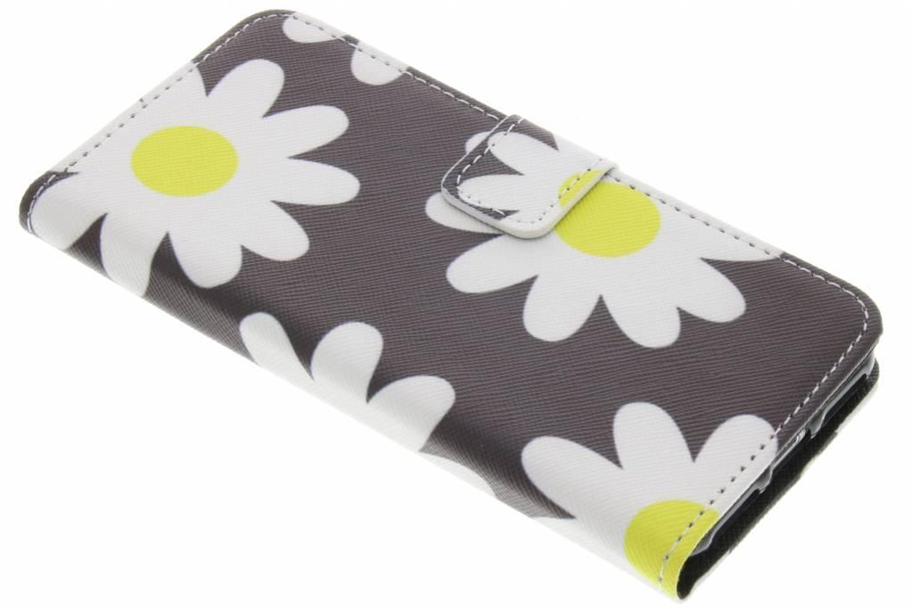 Bloemen design TPU booktype hoes voor de iPhone 7