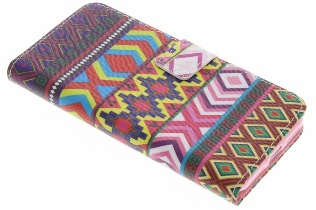 Aztec design TPU booktype hoes voor de iPhone 7