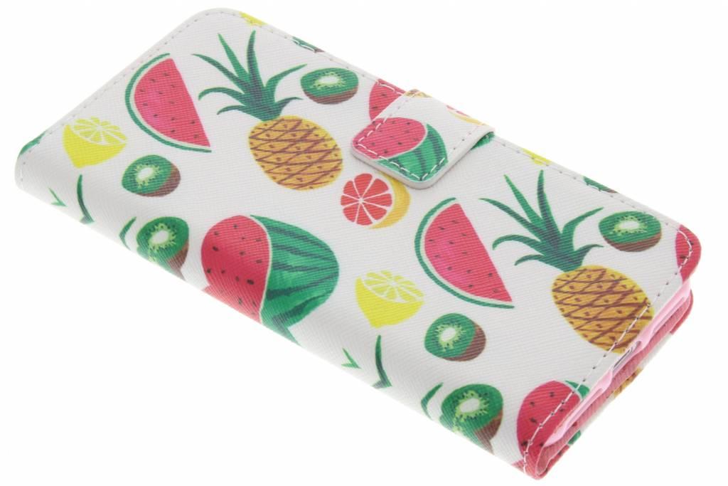 Fruit design TPU booktype hoes voor de iPhone 7