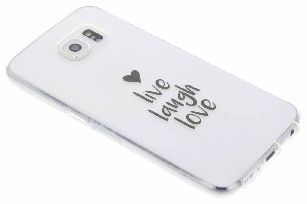 Quote design Live Laugh Love TPU hoesje voor de Samsung Galaxy S6