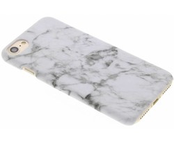 Wit marmer look hardcase hoesje iPhone 8 / 7
