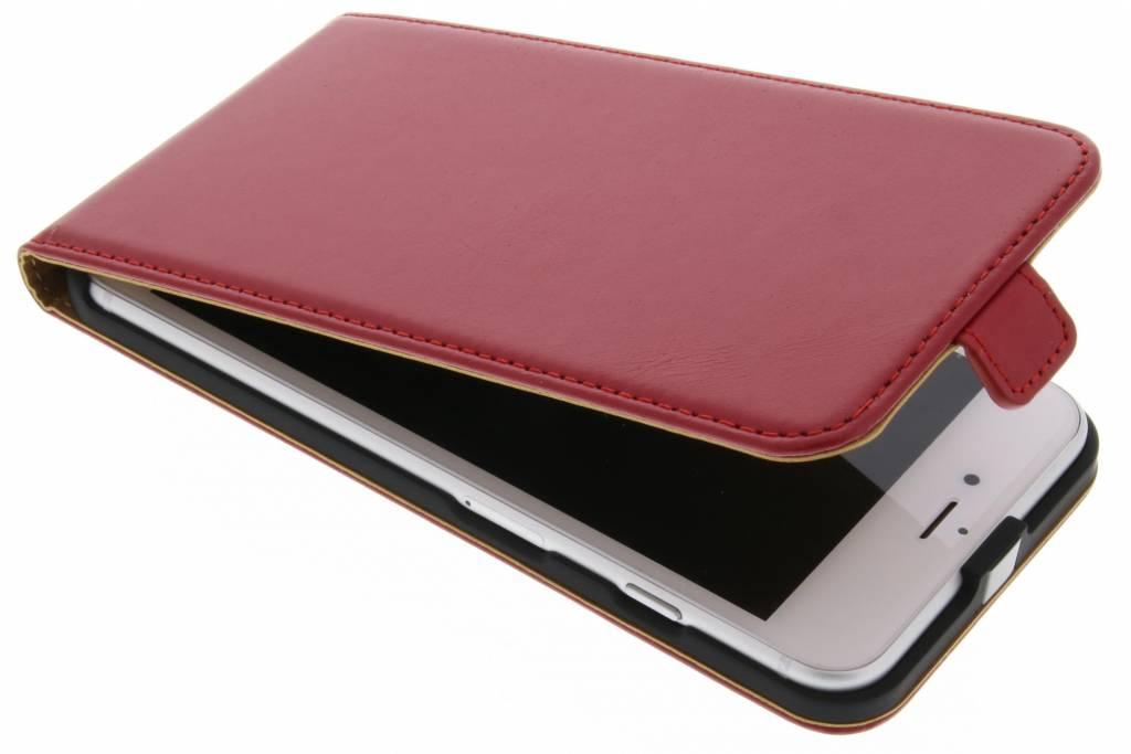 Selencia Luxe lederen Flipcase voor de iPhone 7 Plus - Rood