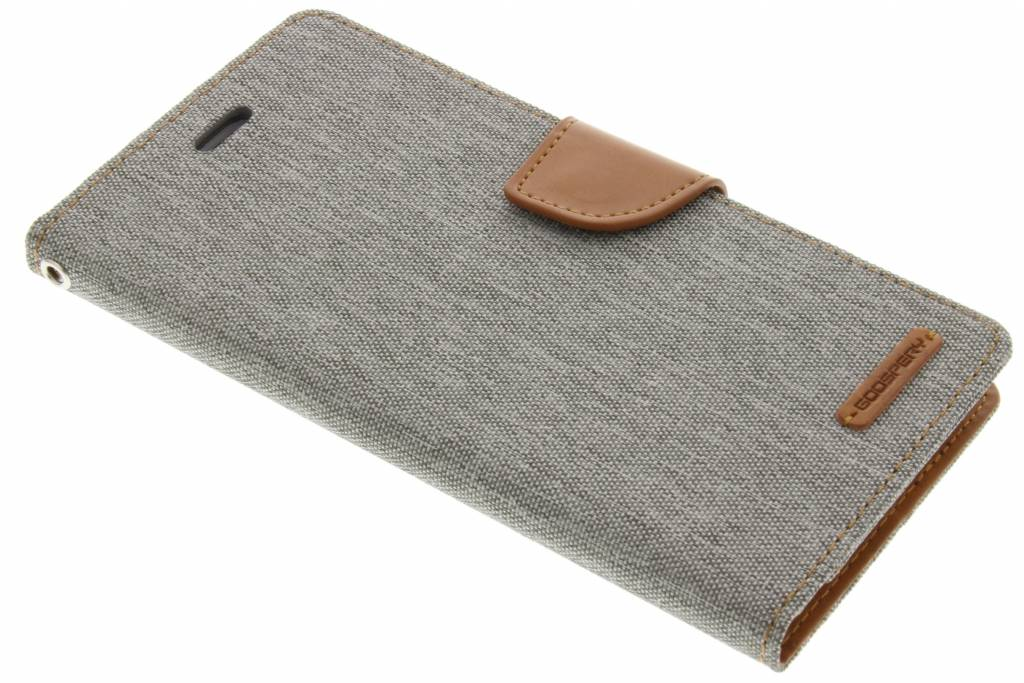 Mercury Goospery Canvas Diary Case voor de iPhone 8 Plus / 7 Plus - Grijs