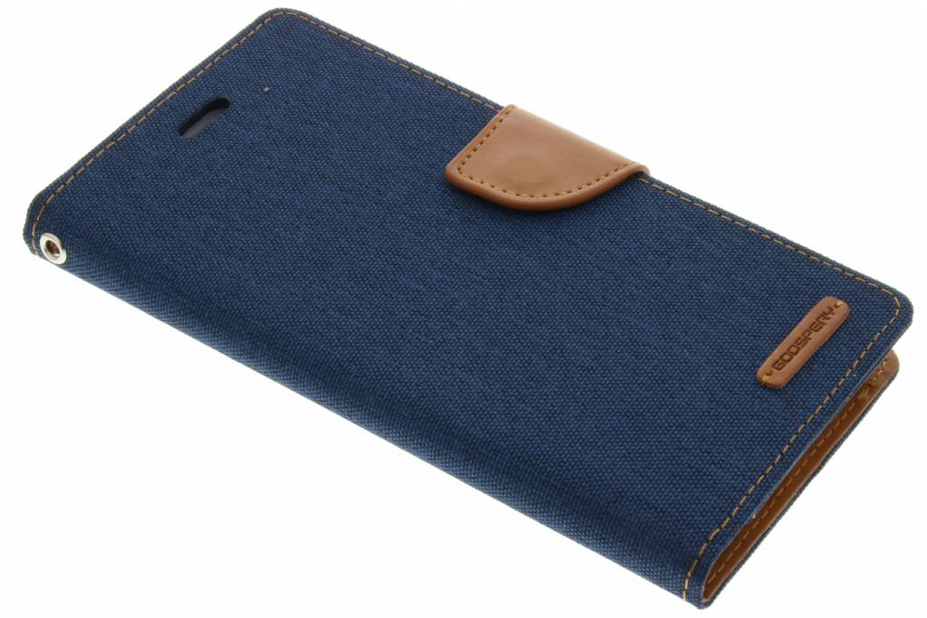 Mercury Goospery Canvas Diary Case voor de iPhone 7 Plus - Blauw
