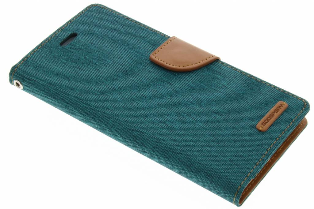 Mercury Goospery Canvas Diary Case voor de iPhone 7 Plus - Groen