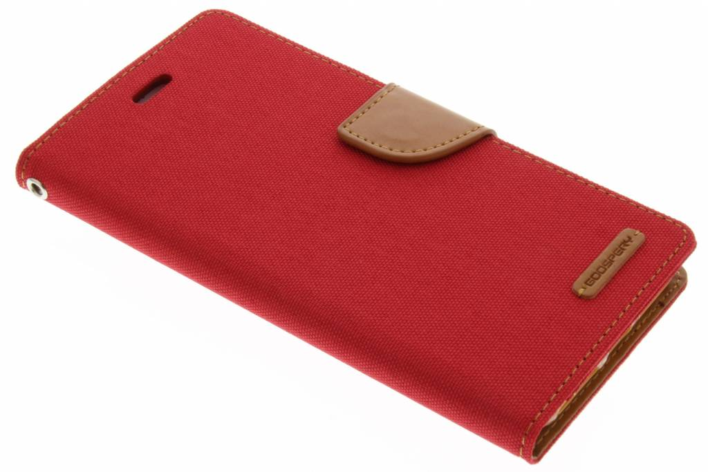 Mercury Goospery Canvas Diary Case voor de iPhone 8 Plus / 7 Plus - Rood