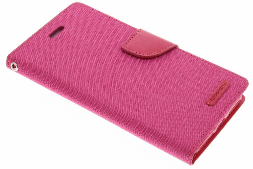 Mercury Goospery Canvas Diary Case voor de iPhone 7 Plus - Fuchsia