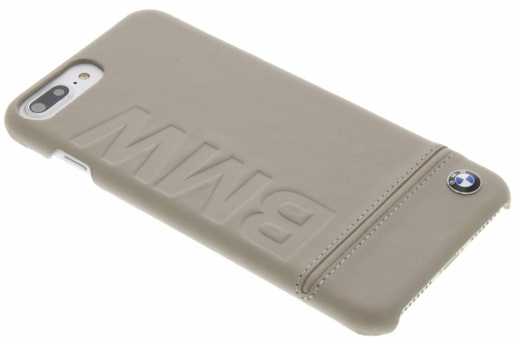 BMW Real Leather Hard Case voor de iPhone 8 Plus / 7 Plus - Taupe