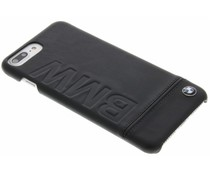 BMW Real Leather Hard Case iPhone 8 Plus / 7 Plus - Zwart