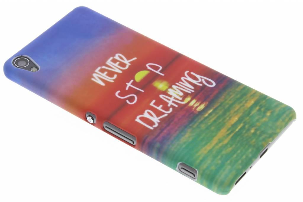 Never stop dreaming design hardcase hoesje voor de Sony Xperia XA