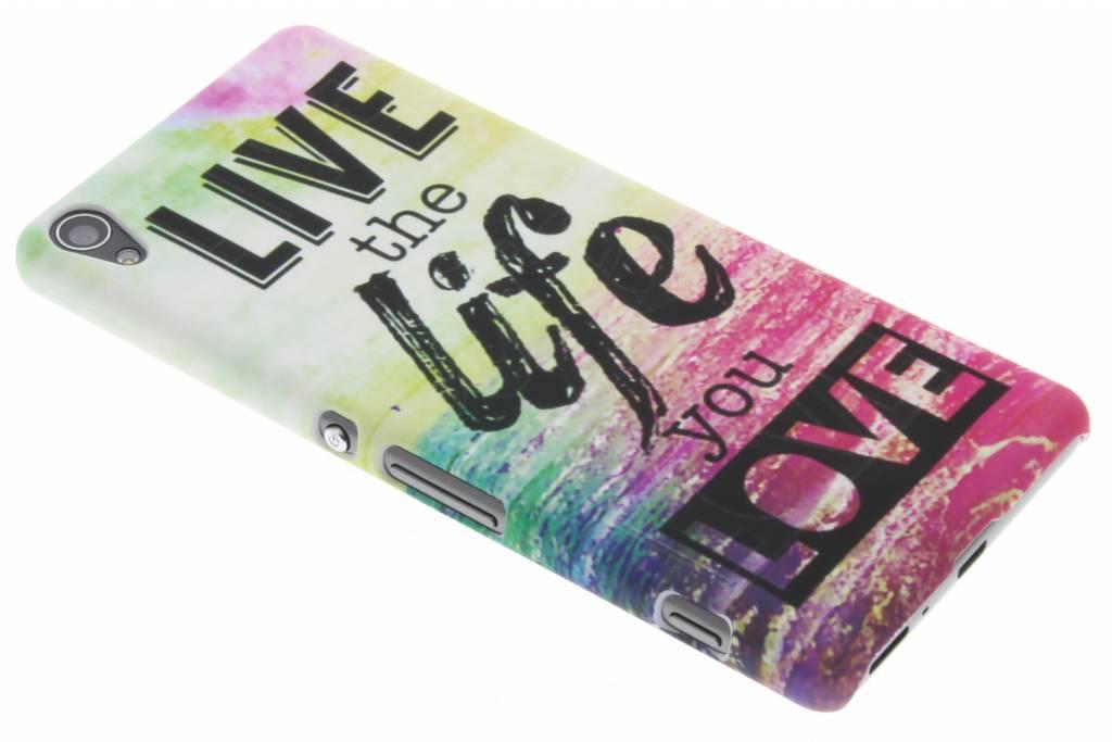 Live the life design hardcase hoesje voor de Sony Xperia XA