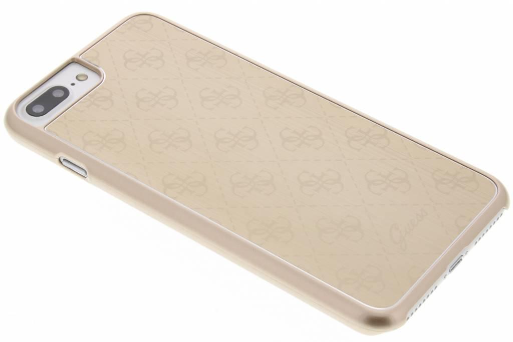 Guess Aluminium Plate Hard Case voor de iPhone 8 Plus / 7 Plus - Goud