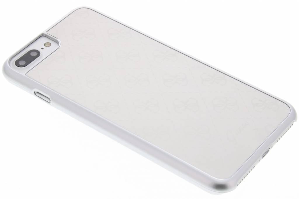 Guess Aluminium Plate Hard Case voor de iPhone 7 Plus - Zilver