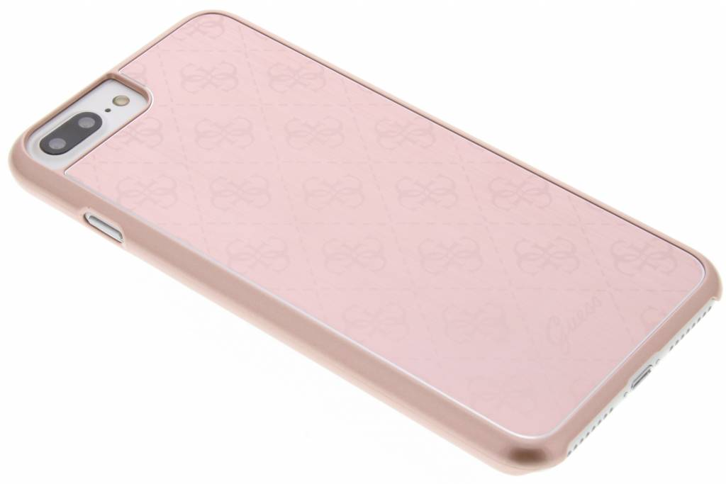 Guess Aluminium Plate Hard Case voor de iPhone 7 Plus - Rosé goud
