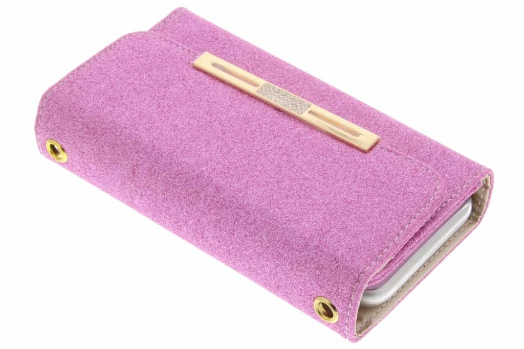Roze blingbling booktype portemonnee voor de iPhone 8 Plus / 7 Plus