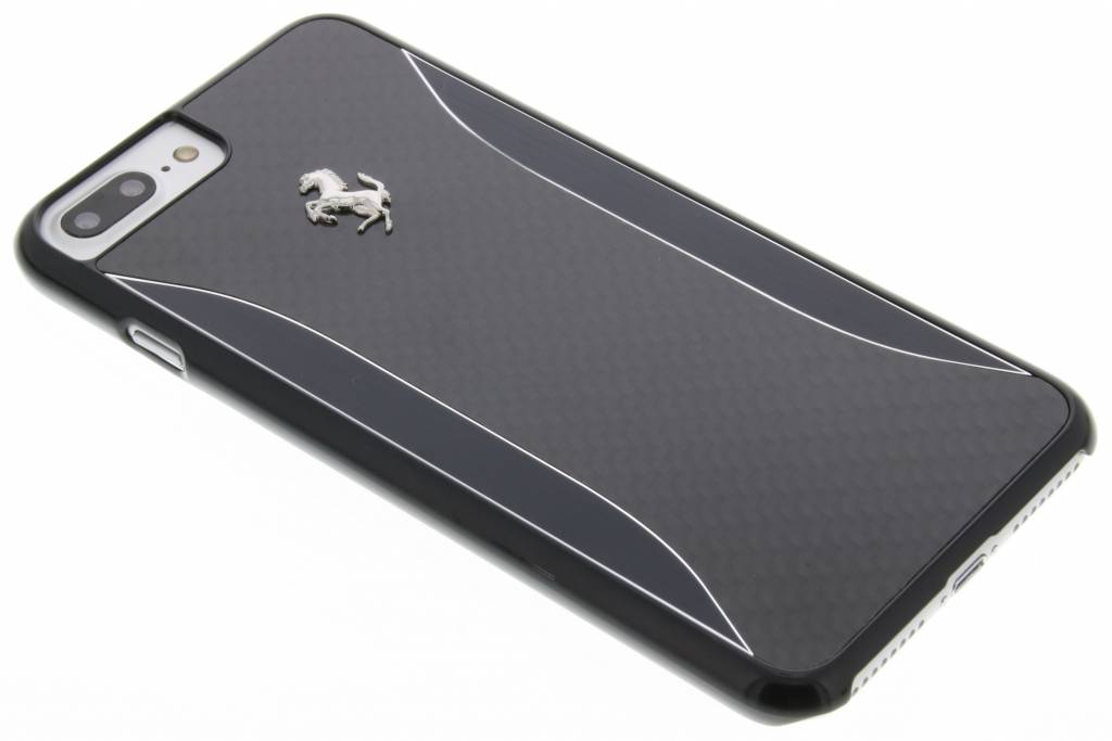 Ferrari Carbon Fiber Hardcase voor de iPhone 8 Plus / 7 Plus - Zwart