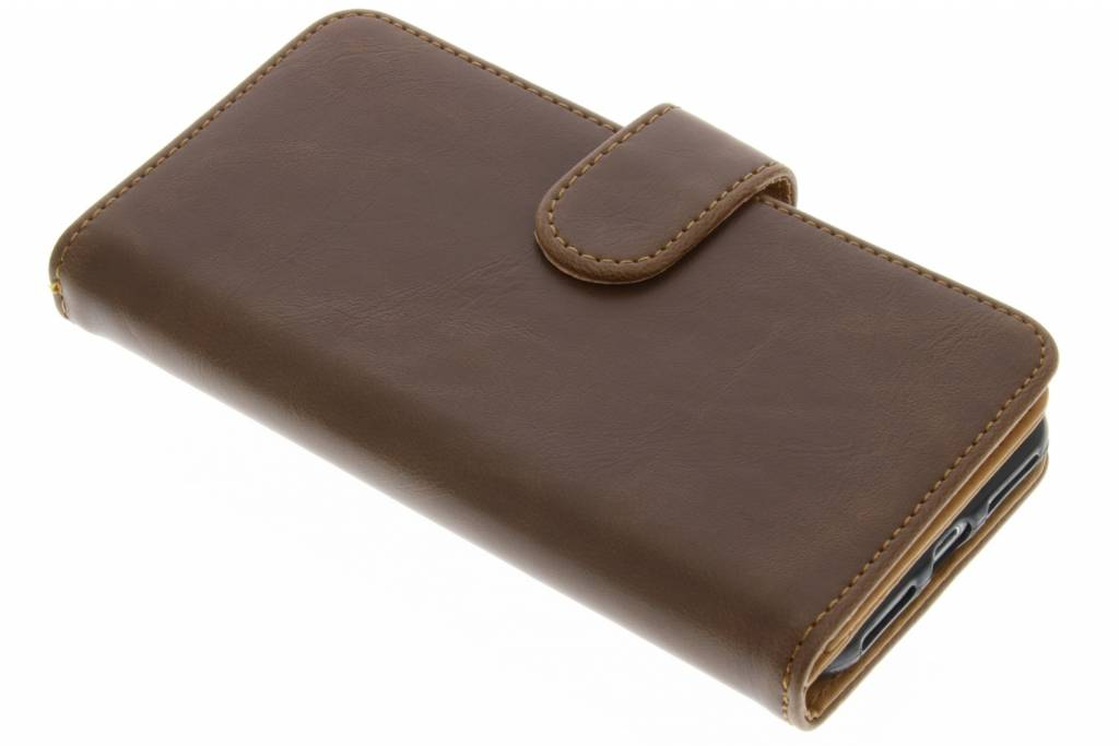 Bruine 14-vaks Wallet Case voor de iPhone 8 / 7