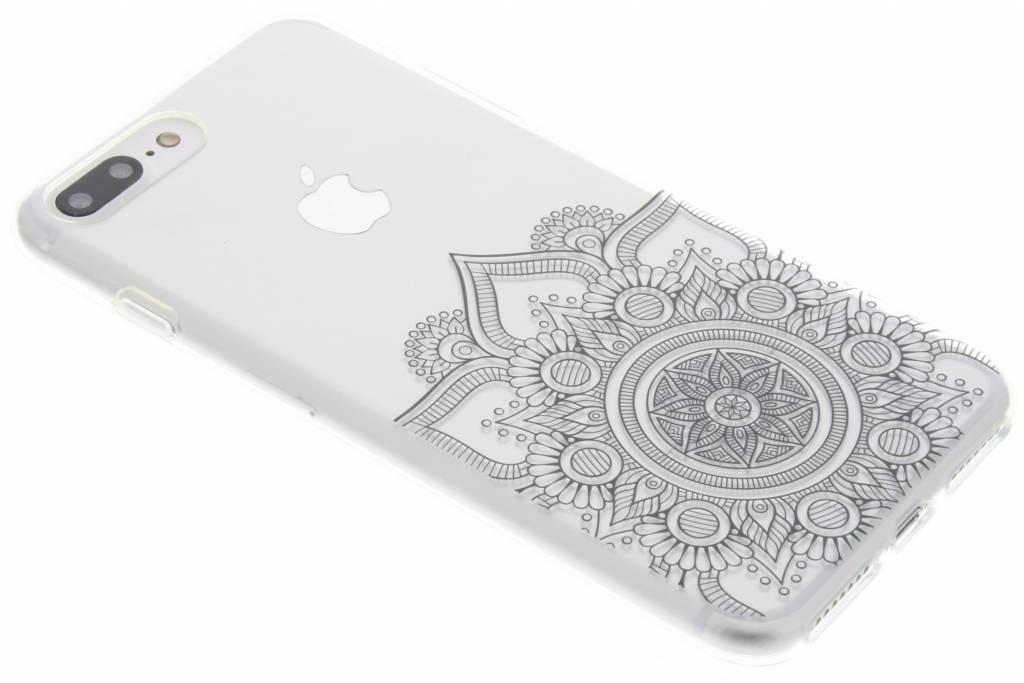 Zwart mandala design TPU hoesje voor de iPhone 7 Plus