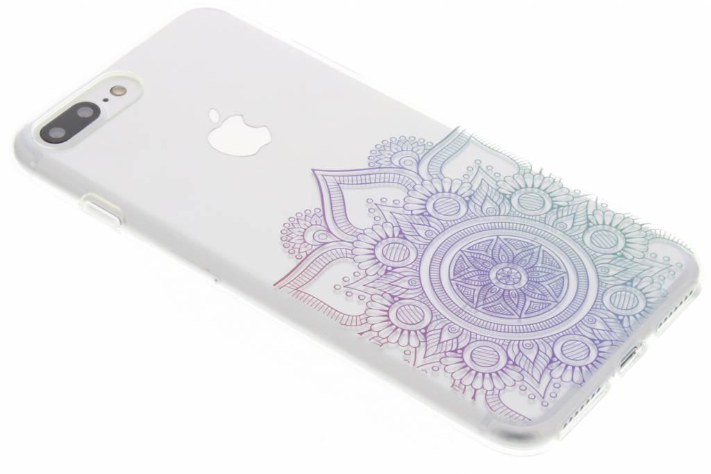 Multicolor mandala design TPU hoesje voor de iPhone 7 Plus