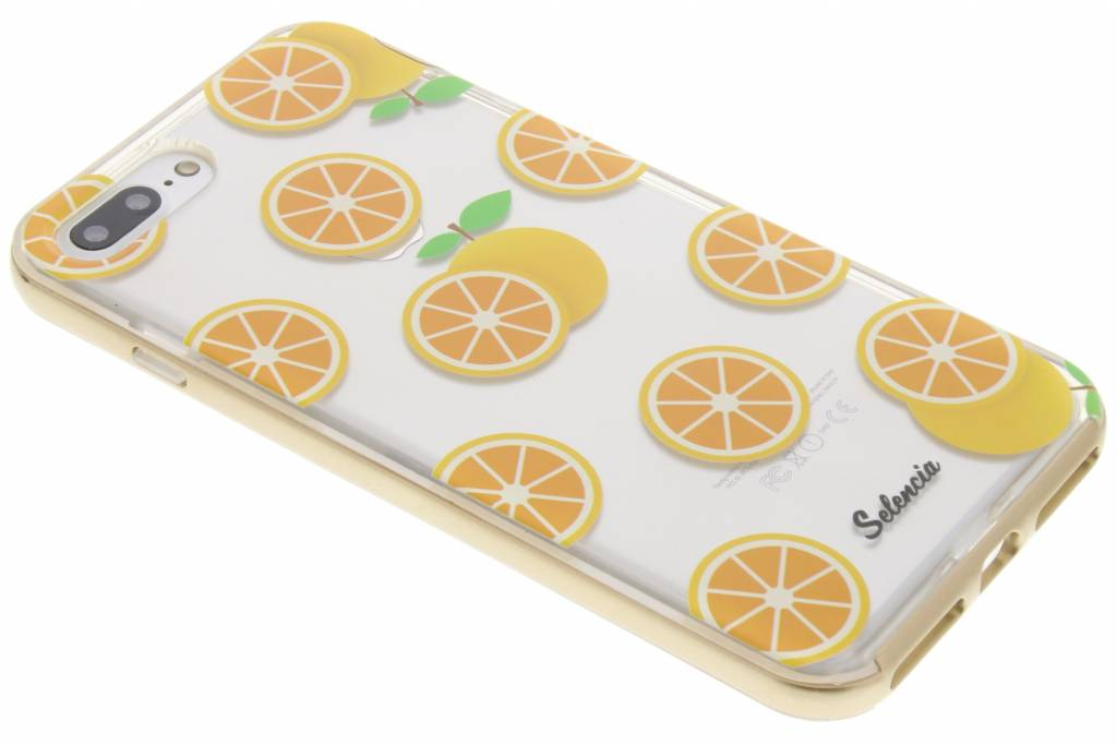 Selencia Foodies Orange TPU hoesje voor de iPhone 7 Plus