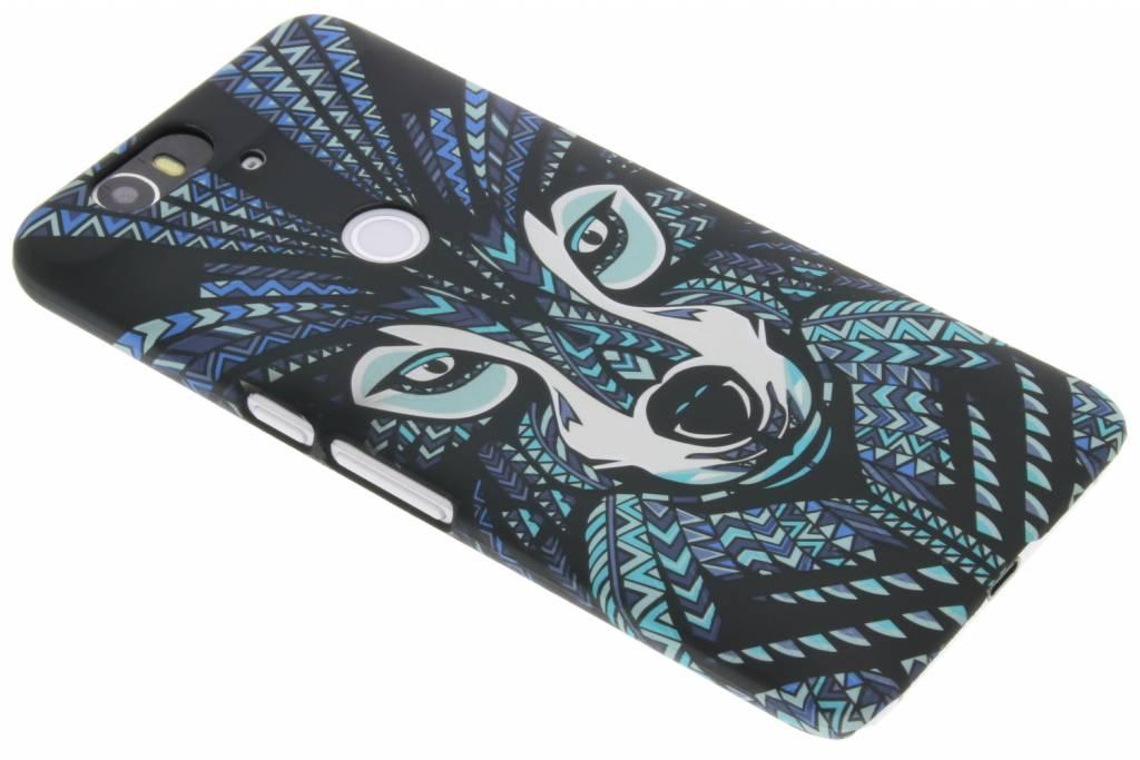 Wolf aztec animal design design voor de Huawei Nexus 6P