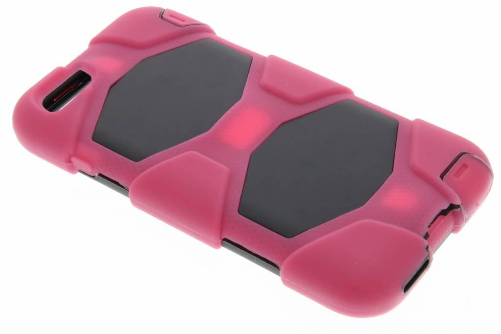 Roze extreme protection army case voor de iPhone 6(s) Plus