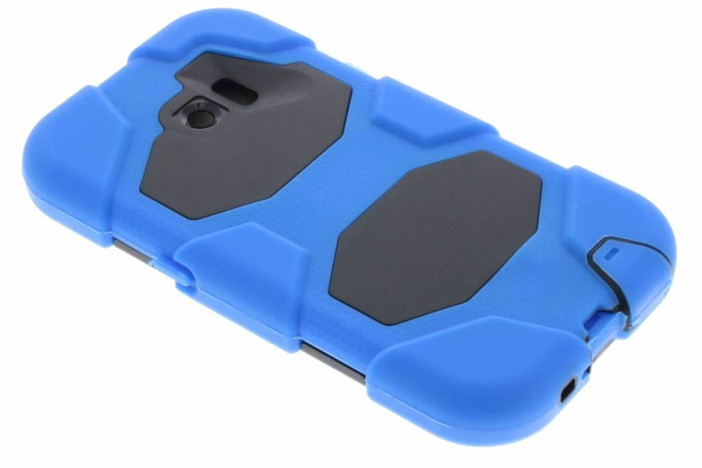 Blauwe extreme protection army case voor de Samsung Galaxy S