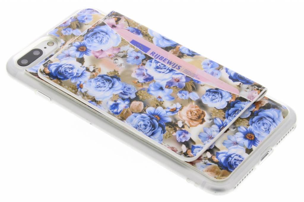 Bloemen design TPU hoesje met pasjeshouder voor de iPhone 7 Plus