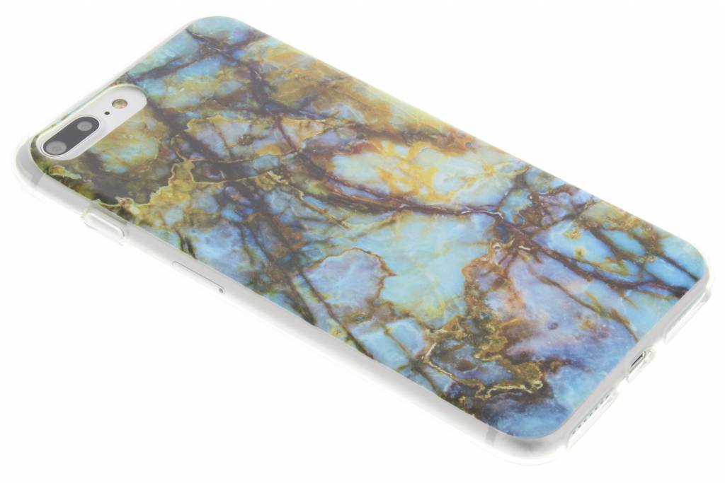 Marmer design TPU siliconen hoesje voor de iPhone 8 Plus / 7 Plus