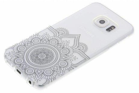 Noir Mandala Conception Étui En Tpu Pour Samsung Galaxy J5 Yq15qDf6F