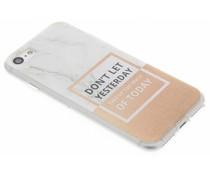Quote design TPU hoesje iPhone 8 / 7