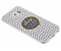Quote design TPU hoesje Samsung Galaxy S6