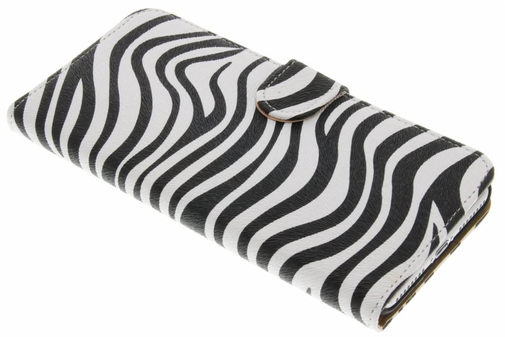Zebra booktype hoes voor de iPhone 8 Plus / 7 Plus