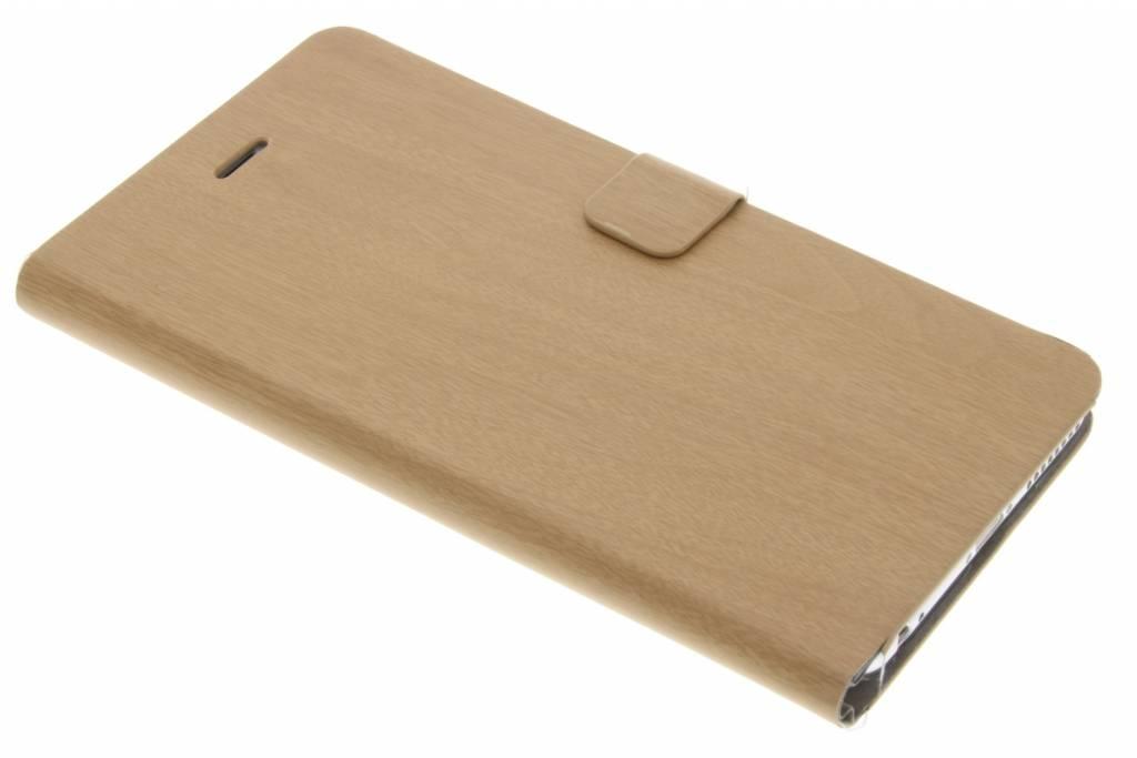 Lichtbruine hout design booktype hoes voor de iPhone 6(s) Plus