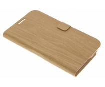 Hout design booktype hoes Samsung Galaxy Note 2