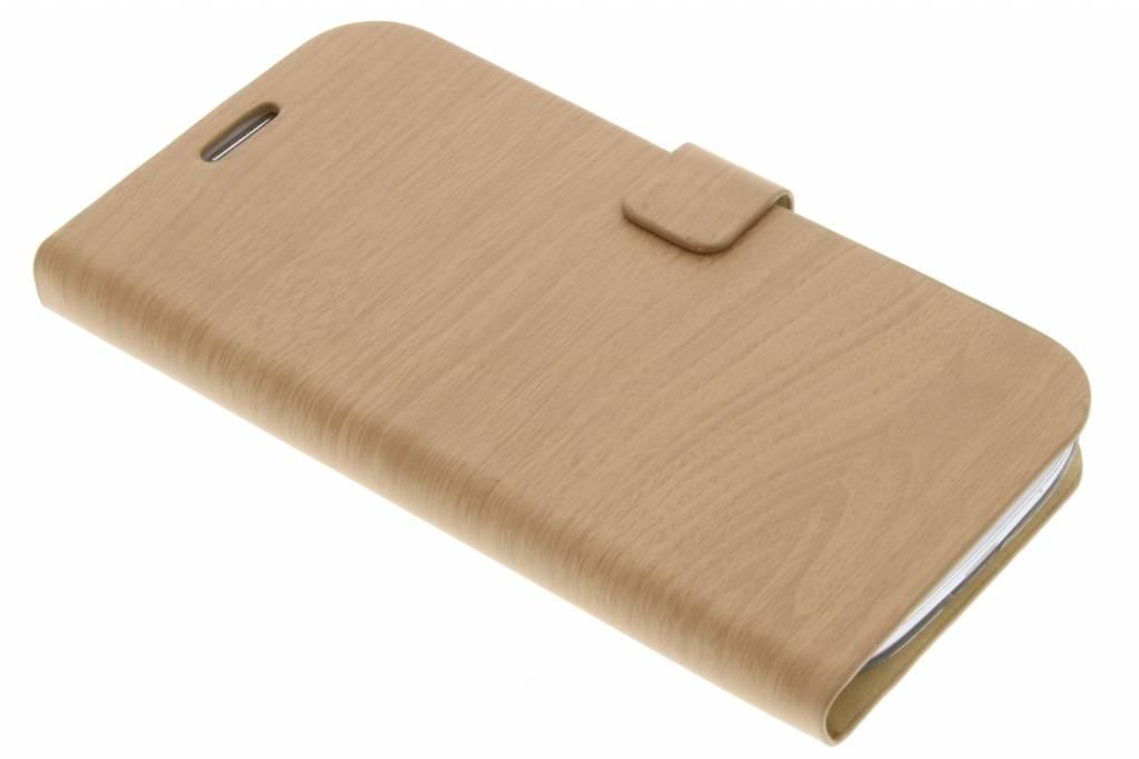 Lichtbruine hout design booktype voor de Samsung Galaxy S3 / Neo