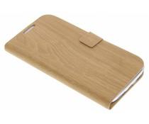 Hout design booktype Samsung Galaxy S4