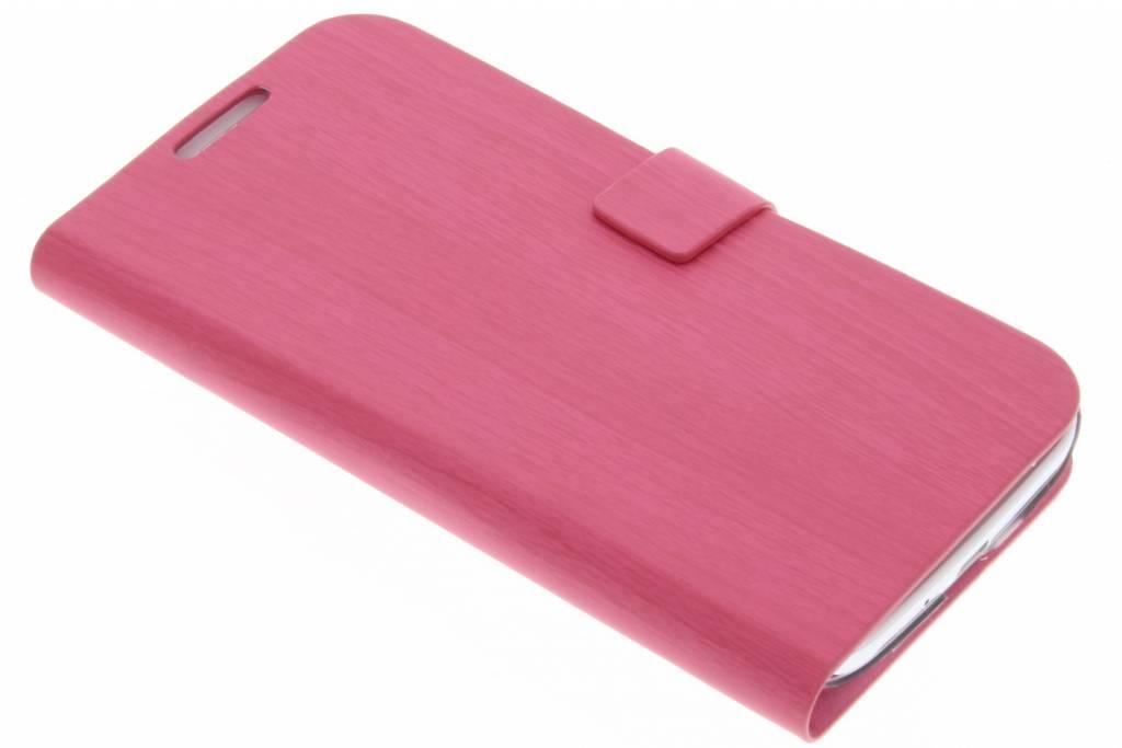 Fuchsia hout design booktype voor Samsung Galaxy S4